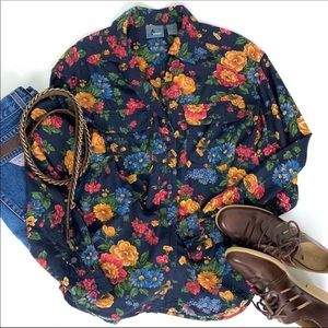 Vintage LizWear Floral Blouse